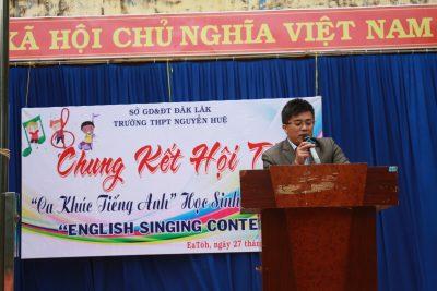 """Kết quả chung khảo cuộc thi """"English singing contest 3rd"""" năm 2017"""
