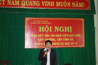 Lễ tổng kết cuộc thi GV dạy giỏi cấp tỉnh và kế hoạch công tác giáo dục HK II