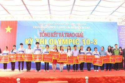 Kết quả kỳ thi HSG Olympic 10-3-2018