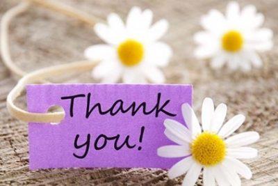 Bày tỏ lòng biết ơn sớm nhất có thể